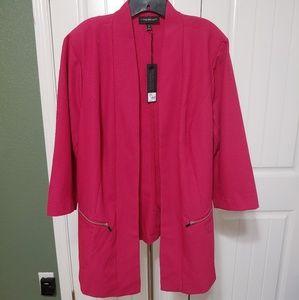 Pink Drape Tailored Stretch Blazer Lane Bryant 24